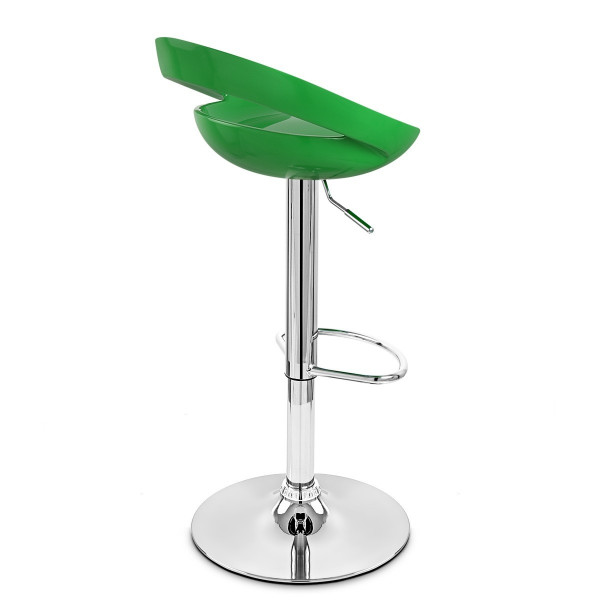 Sgabello Plastica Cromato - Crescent Verde