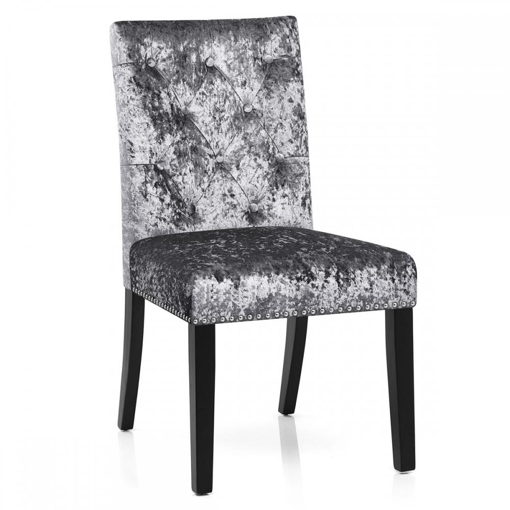 Sedia in legno e velluto barrington for Sedie design velluto
