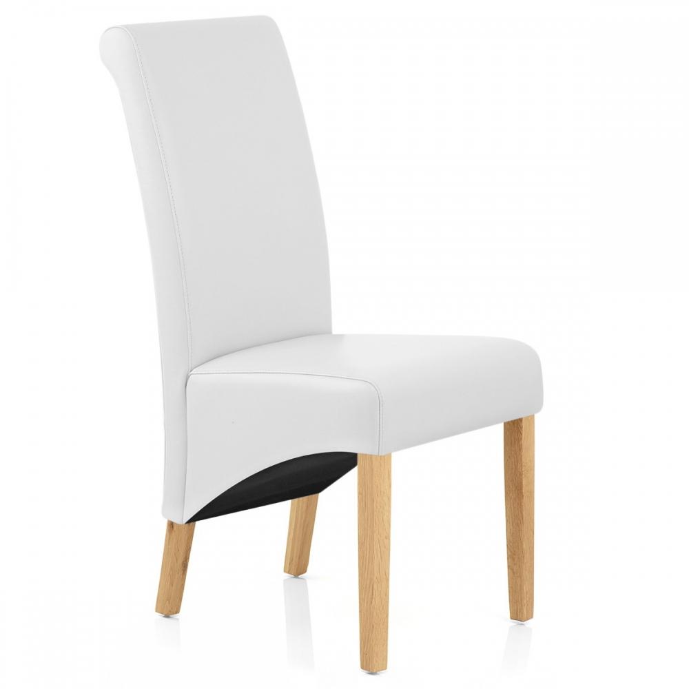 Sedia in legno ed ecopelle Carlo Quercia