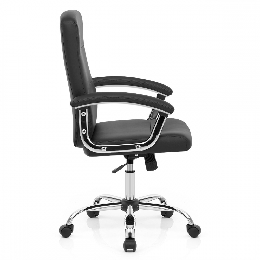 Sedia per l 39 ufficio stanford in ecopelle con rotelle for Tavolini per ufficio