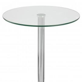 Tavolo da bar Vetro Cromato - Vetro Rotondo