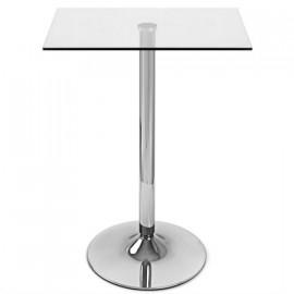 Tavolo da bar Vetro Cromato - Vetro Quadrato