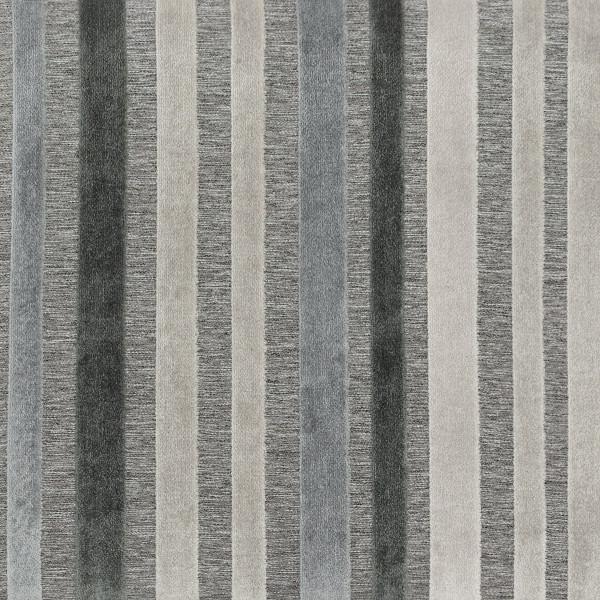 Sgabello legno tessuto - Carter grigio e blu