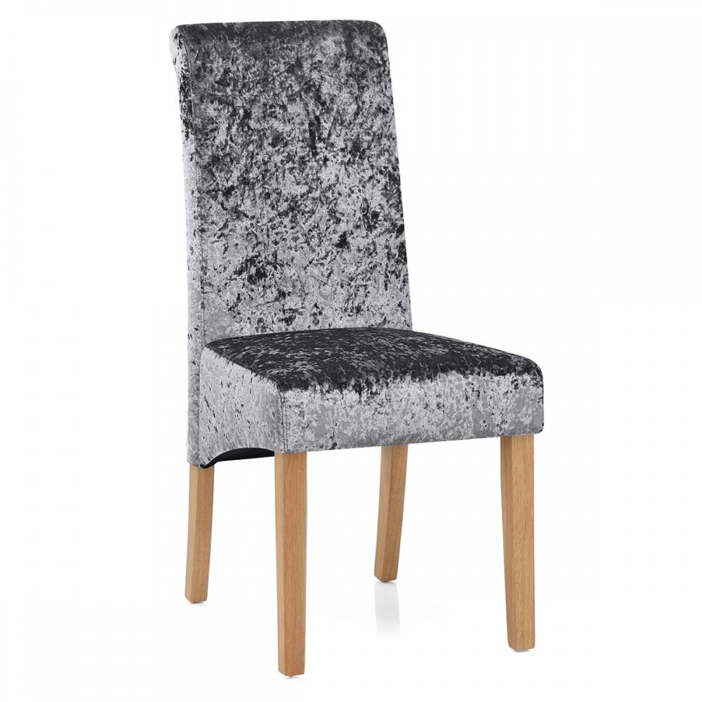 Sedia in velluto e legno claremont for Sedie in velluto