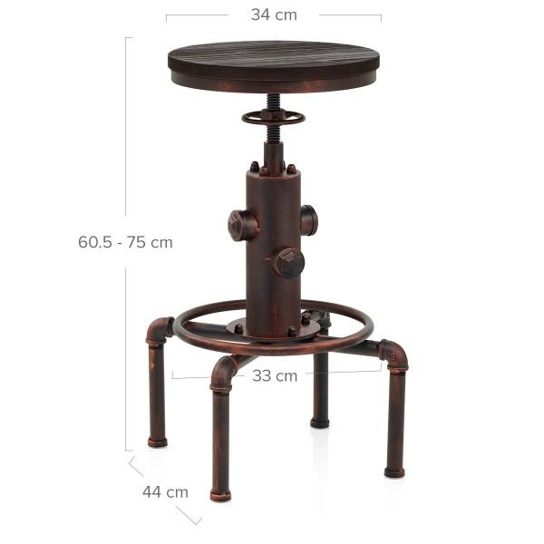 Sgabello Legno Metallo - Hydrant Rame