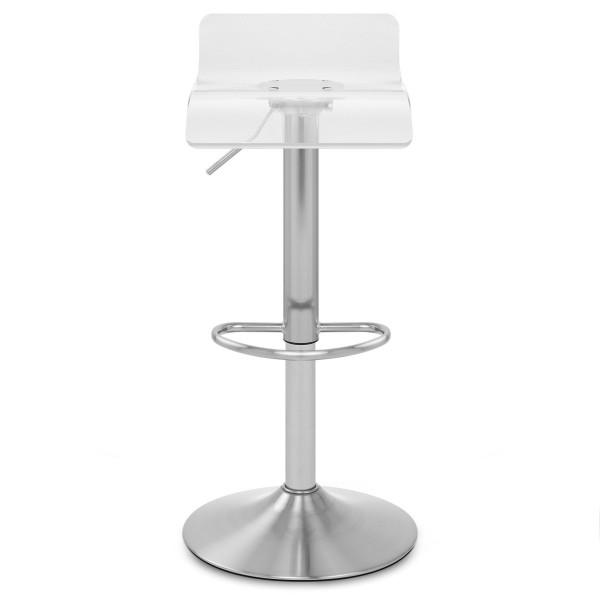 Sgabello Plastica Satinato - Shimmer Trasparente